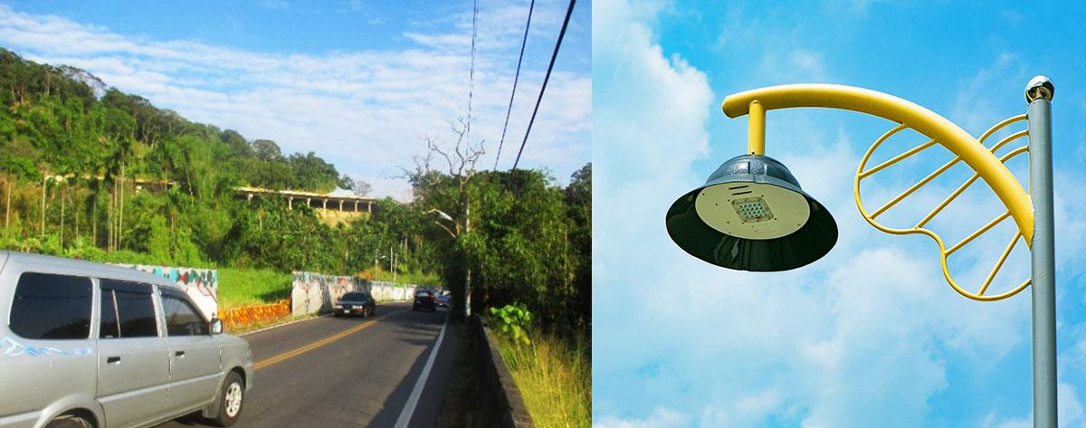 全縣採用的節能LED燈具