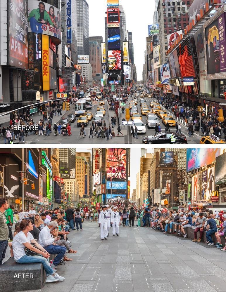 紐約時代廣場街道改造前後比較(二)