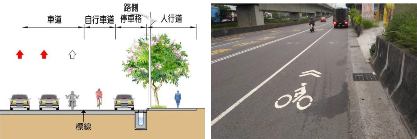 自行車專用車道-標線區隔(Type B-2)