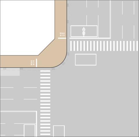 共用人行道路口配置(雙向與行人混用)
