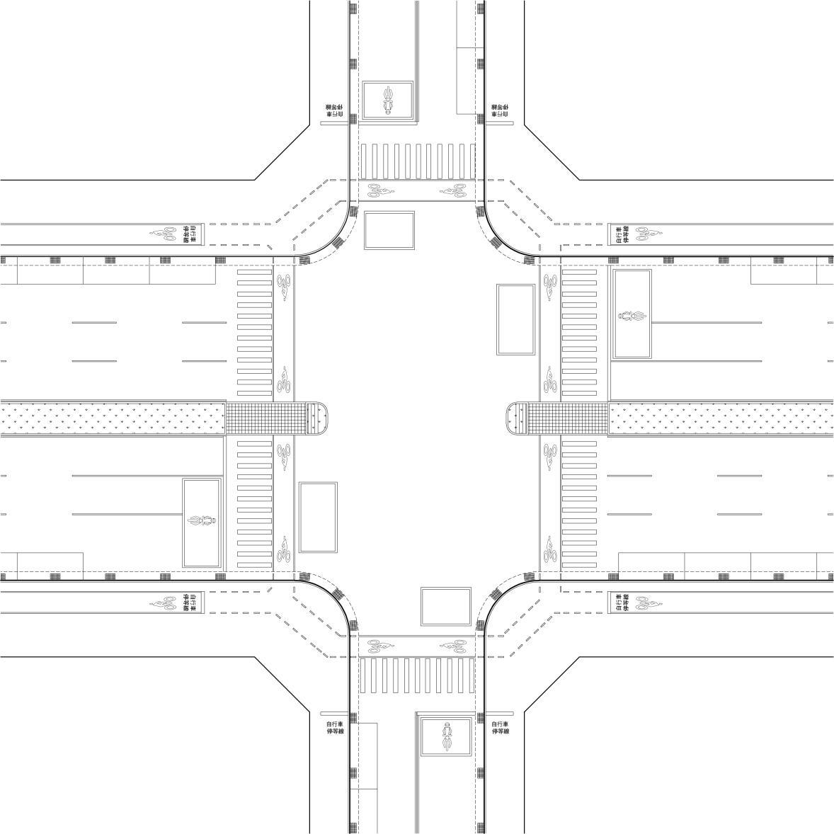 圖8-4-2 大型正交路口配置範例