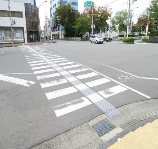 行穿線中央設置引導設施