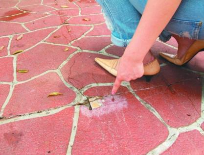 特殊設計在鋪面損壞後難以修復