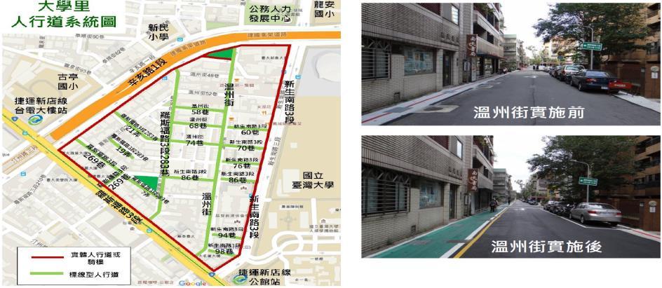 大學里人行道系統圖