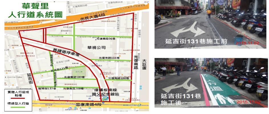 華聲里人行道系統圖