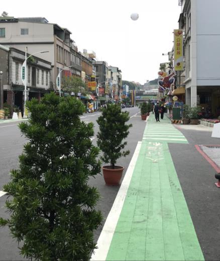 劃設標線型人行道