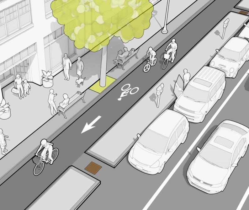 自行車專用道剖面示意圖