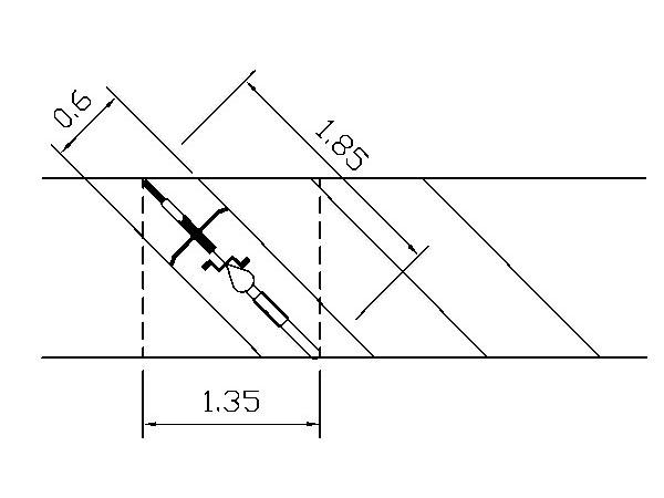 腳踏自行車斜角停車空間(單位:公尺)