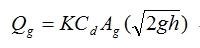 格柵進水口之流量計算公式