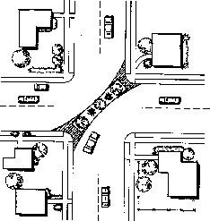 路口對角封閉設施圖例