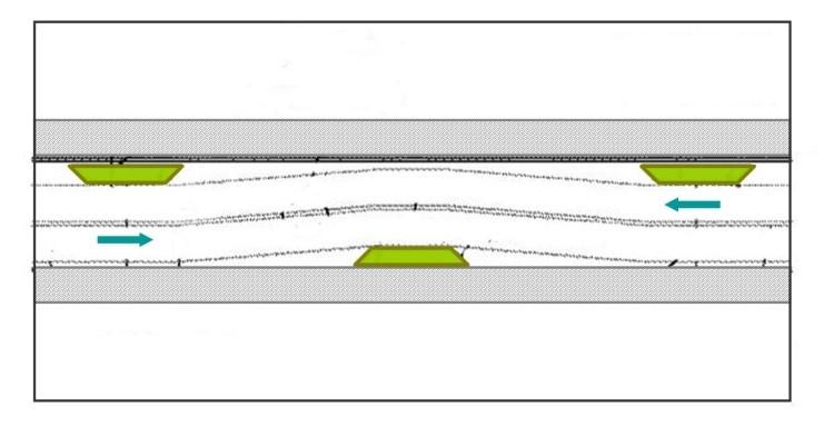 車道取折圖例
